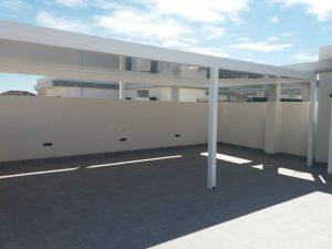 Pérgola La Santa de aluminio de alta resistencia de Aludrián Metálicas en Totana, Murcia. 02