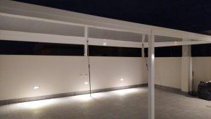 Pérgola La Santa de aluminio de alta resistencia de Aludrián Metálicas en Totana, Murcia. 01